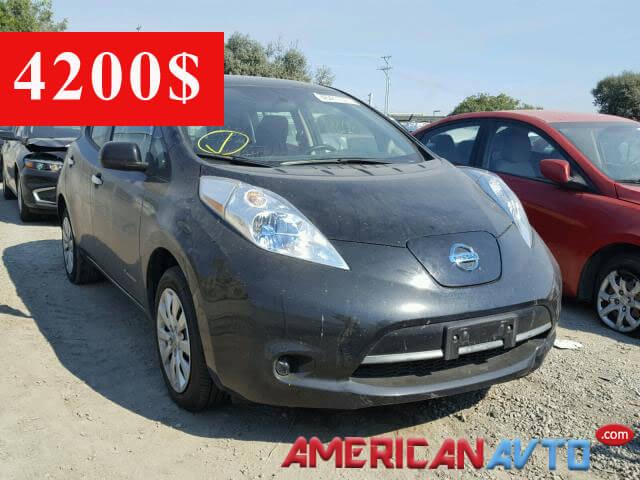 Купить Nissan Leaf 2014 года в США. Цена- 4200$ на аукционе Америки