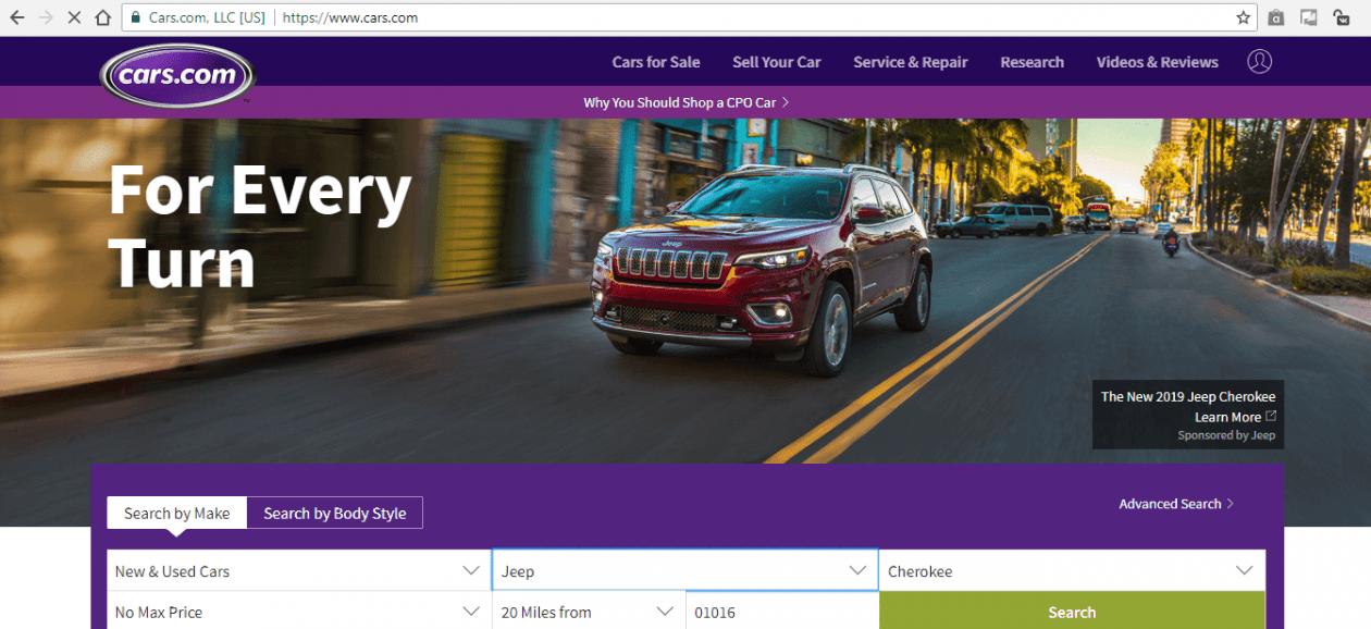 Cars.com аукцион авто из Америки. Карс ком на русском языке