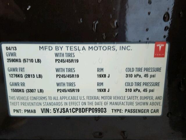 Купить TESLA MODEL S 2013 в США.