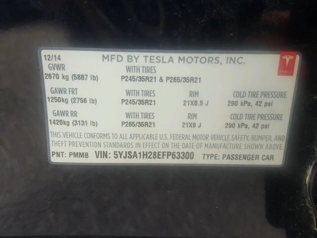 Купить TESLA MODEL S 2014 в США.