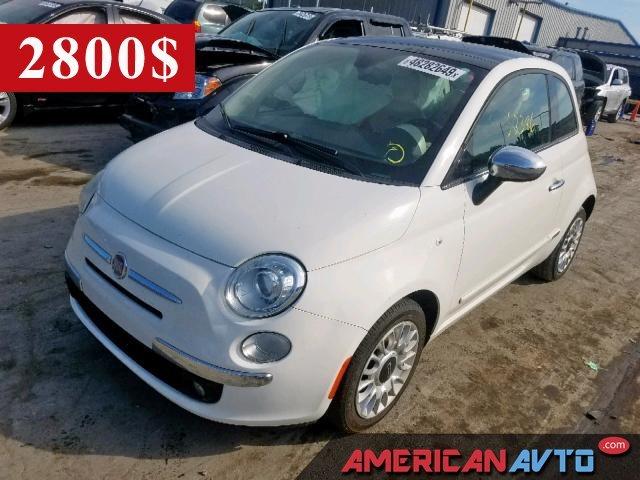 Купить белую бу FIAT 500 1.4 2013 года в США