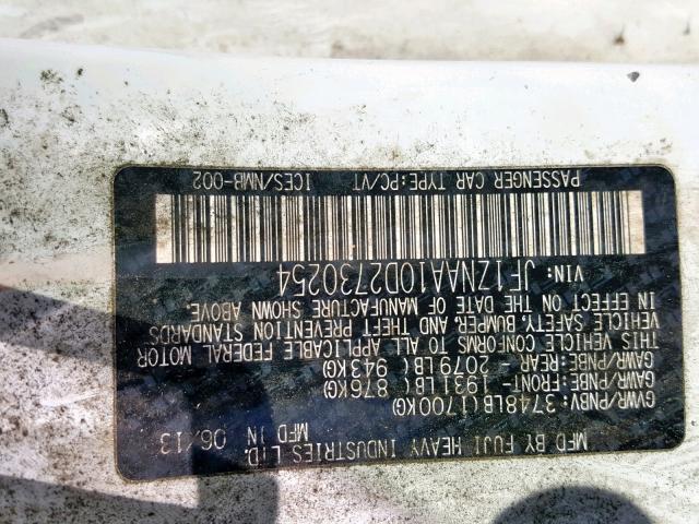 Купить белую бу TOYOTA SCION 2.0 2013 года в США