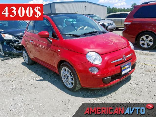 Купить красную бу FIAT 500 1.4 2015 года в США