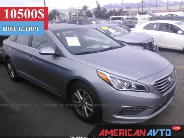 Купить бу Hyundai Sonata 2.4 2014 года в США