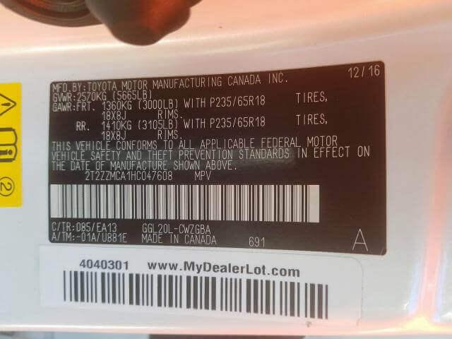 Купить LEXUS RX 350 2017 года в США